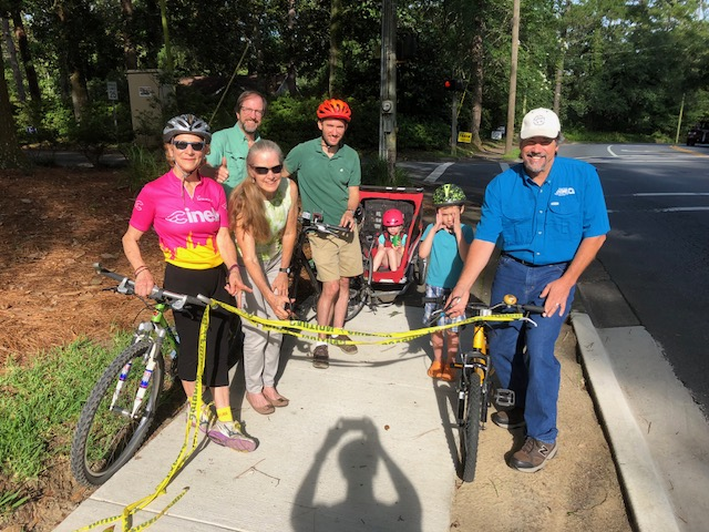 Betton Hills celebrates sidewalk re-opening