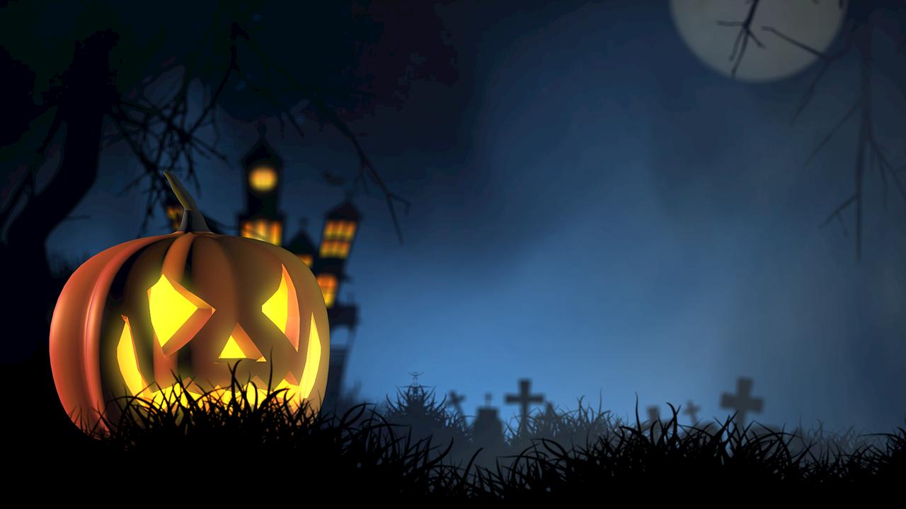 Spooky halloween house