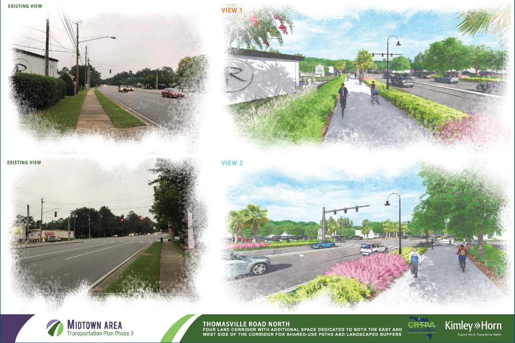 Kimley-Horn Conceptual Rendering of Thomasville Road Multi-Use Path